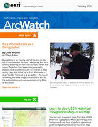 read the ArcWatch Feb. 2016 issue