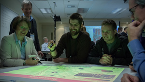 The Geodesign Summit offered hands-on workshops where participants could work with technology.