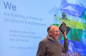 Esri president Jack Dangermond recommended that the audience read The Invention of Nature: Alexander von Humboldt's New World.