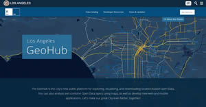 City employees, nonprofit organizations, app developers, and the public can go to the new Los Angeles GeoHub, find data, and map it.