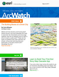 read the ArcWatch March 2017 issue