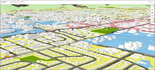 With Esri technology, you can visualize land use in 3D for a city such as Boulder, Colorado.