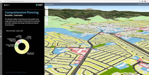 Data about land use can be analyzed and visualized in 3D maps.
