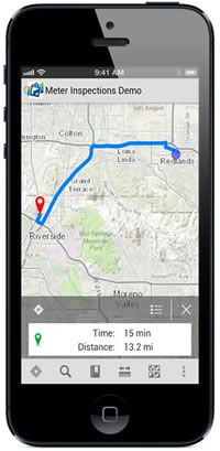 You can plan routes with the Collector for ArcGIS app.