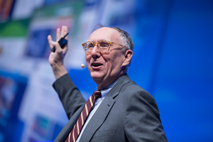 Geographic knowledge comes  alive in apps, Dangermond says.