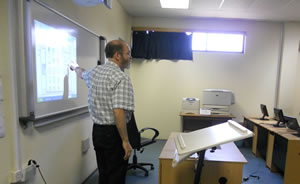Bob Kolvoord taught GIS concepts for one week to students and teachers at the college.