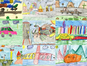 Students from Las Vegas area schools contributed their works of art to the project.