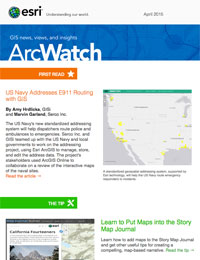 read the ArcWatch April 2015 issue