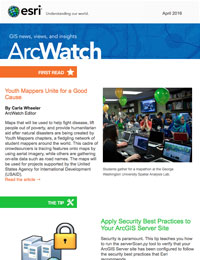 read the ArcWatch April 2016 issue