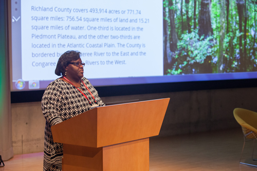 Brenda L. Carter explains the role GIS played in devising a green infrastructure plan for Richland County.