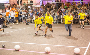 The action was fast and furious during the popular dodge ball tournament.