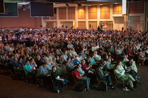 Almost 1,800 people packed the Palm Springs Convention Center to hear about Esri technology for building geospatial apps.