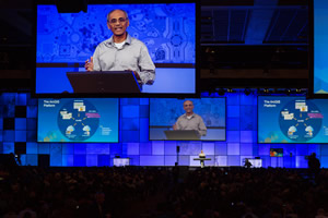 Esri director of software development Sud Menon says ArcGIS is a location platform for developers.