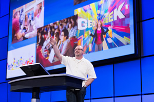 """We've got something for all of you,"" Esri's Jim McKinney told the 1,800 people who attended the Esri Developer Summit."