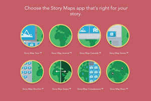 You have a choice of eight Esri Story Maps apps to select from to tell your story.