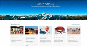 The Learn ArcGIS website currently hosts 48 lessons.