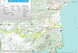 Canoeists can follow this water route south of Thunder Bay, Ontario.