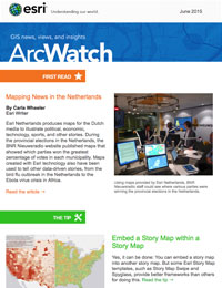 read the ArcWatch June 2015 issue