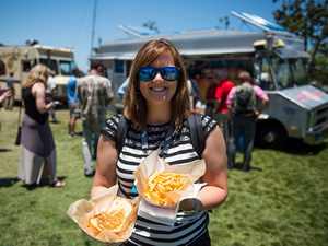 Fare such as sandwiches and fries will be served by the food trucks parked near the San Diego Convention Center.