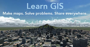 The Learn ArcGIS lessons stress using your spatial analysis skills to solve real problems with real data.