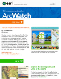 read the ArcWatch July 2015 issue