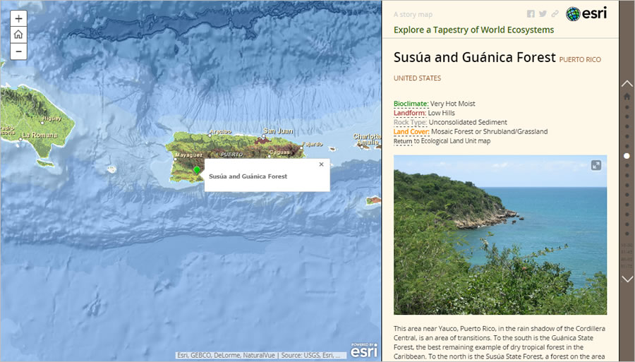 The Area Highlighted On This Map Is Just North Of The Susua And Guanica Forest In