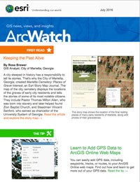 read the ArcWatch July 2016 issue
