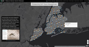 Readers will see many examples of Esri Story Map apps like this one about mosquito control in New York City.