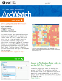 read the ArcWatch July 2017 issue