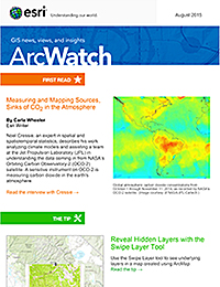 read the ArcWatch August 2015 issue