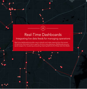 Web GIS powers dashboards, which can be used to visualize and make sense of real-time data.