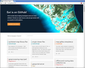 Obtain tools, samples, and web applications at the Esri GitHub site.