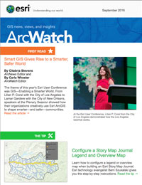 read the ArcWatch September 2016 issue