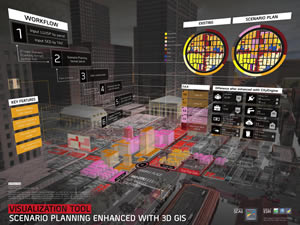 The Visualization Tool – Scenario Planning and Enhanced 3D won Best of Show and Most Unique map in the Map gallery competition.