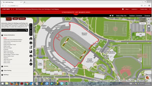 The University of Maryland Interactive Campus Map contained a lot of useful information for students, staff, and faculty.