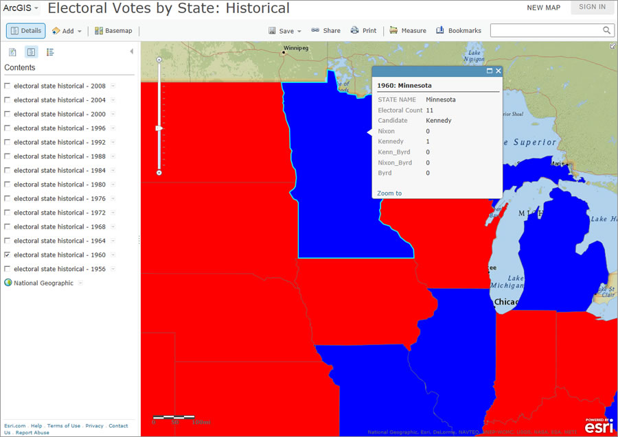 Make Social Studies Come Alive With Web Maps - Interacive us electoral map