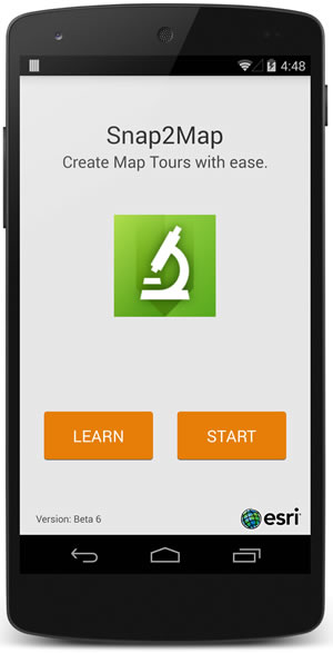 Snap2Map's interface is streamlined and easy to use.