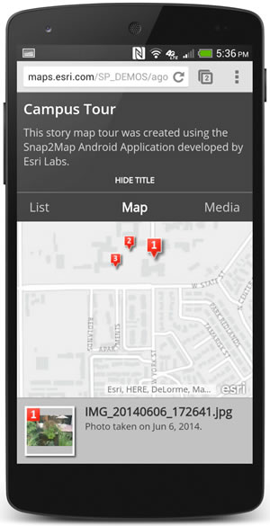 The software will place photos on the map if you've turned on your phone's location services.