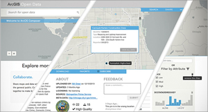 Make your data discoverable with ArcGIS Online's customizable web interface for open data.