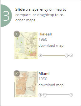 Use the slide bars to change the transparency of the maps.