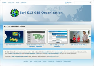 This online resource page provides guidance on how to use ArcGIS Online, teach with it, and connect with GeoMentors. You also will find videos of students demonstrating how they use ArcGIS in their studies.