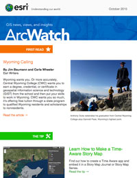 read the ArcWatch Oct. 2015 issue