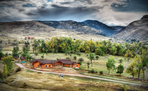 Students in the GIST program who are attracted to rustic accommodations can live in cabins at the Sinks Canyon Center near CWC.