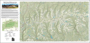 Andrew Keske from the USDA Forest Service authored this beautiful map of the High Uintas Wilderness Area in Utah.