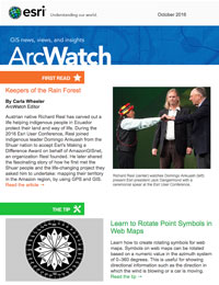read the ArcWatch October 2016 issue