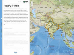 Mahika wanted to highlight India's history using an Esri Story Map Journal.