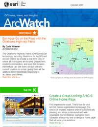 read the ArcWatch October 2017 issue