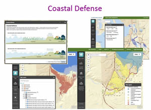 The winning Coastal Defense app was developed by The Nature Conservancy.