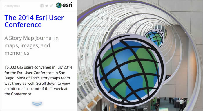 You can include lengthy text and full-screen images in a Journal app such as The 2014 Esri Conference.