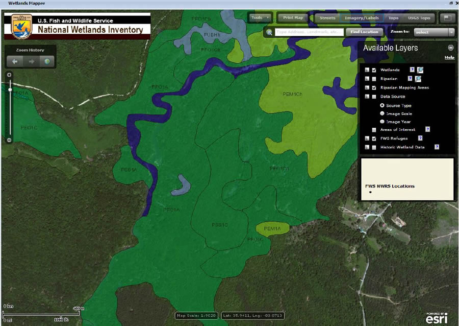 ArcWatch Ten Inspirational Wilderness Conservation Maps - Us fish and wildlife service national wetlands inventory map